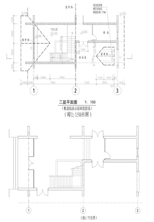 画某砖混结构建筑平面图