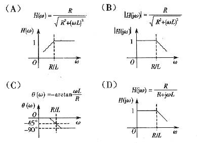 如图所示电路的传递函数及幅频特性曲线是 . _机械_题