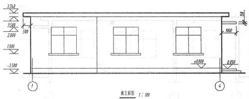 窗台一下墙体结构剖面图