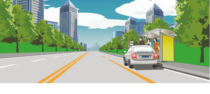 这样停放机动车什么违法行为?()