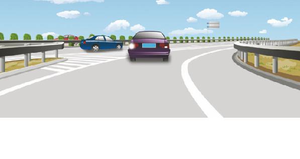 这辆小型载客汽车进入高速公路行车道的行为是正确的高清图片