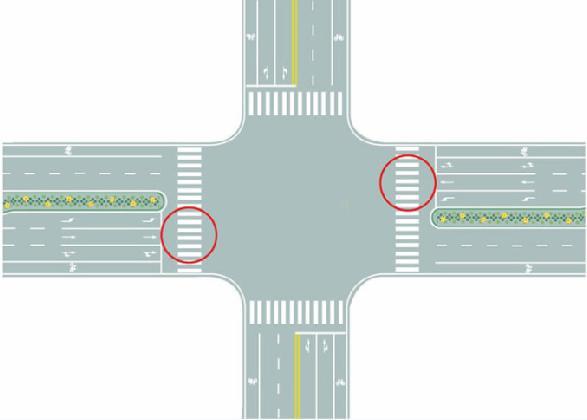 图中圈内的路面标记是什么标线