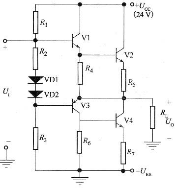 电路如图所示,该电路属于()电路.a.互补ocl功放b.准c.