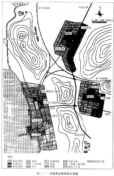 有3条河流,主导风向东北风,主城区现状常住人口60万人,规划