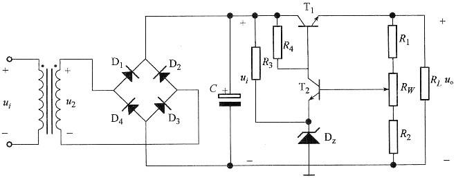 串联型稳压电路如图所示