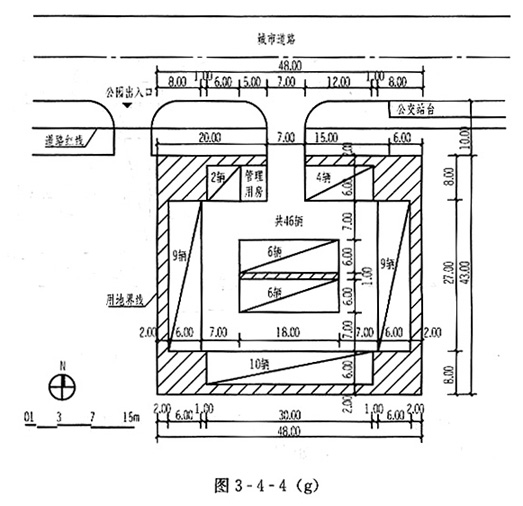 场地设计(作图题)-停车场设计(二)