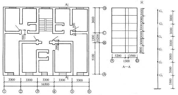 1g,某6层砌体结构住宅,屋面,楼面均为现浇钢筋混凝土板(厚度100mm)