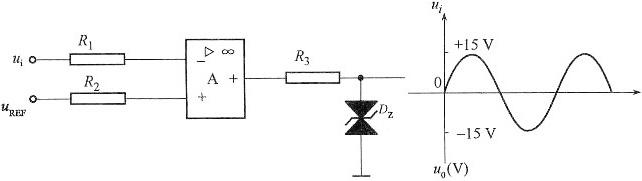 电路如图所示,集成运放最大输出电压u