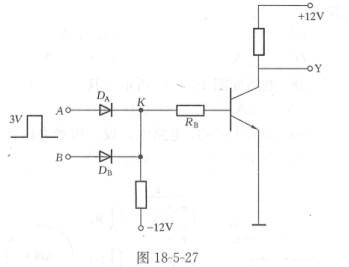 是理想二极管,当 k点电位等于3v时,三极管饱和导通,这电路是一个(  ).