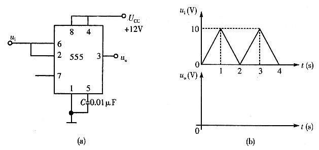 在a图所示电路中,cp和a的波形如b图所示,试对应画出q1