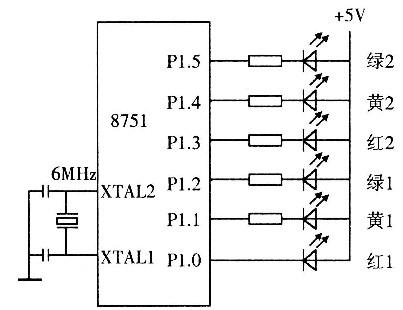 单片机定时器实验接线图
