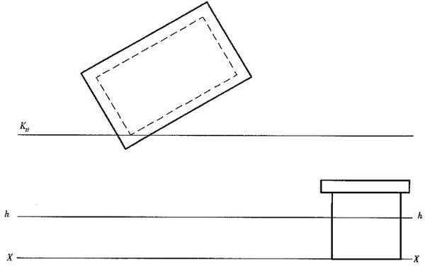 屋的两点透视图